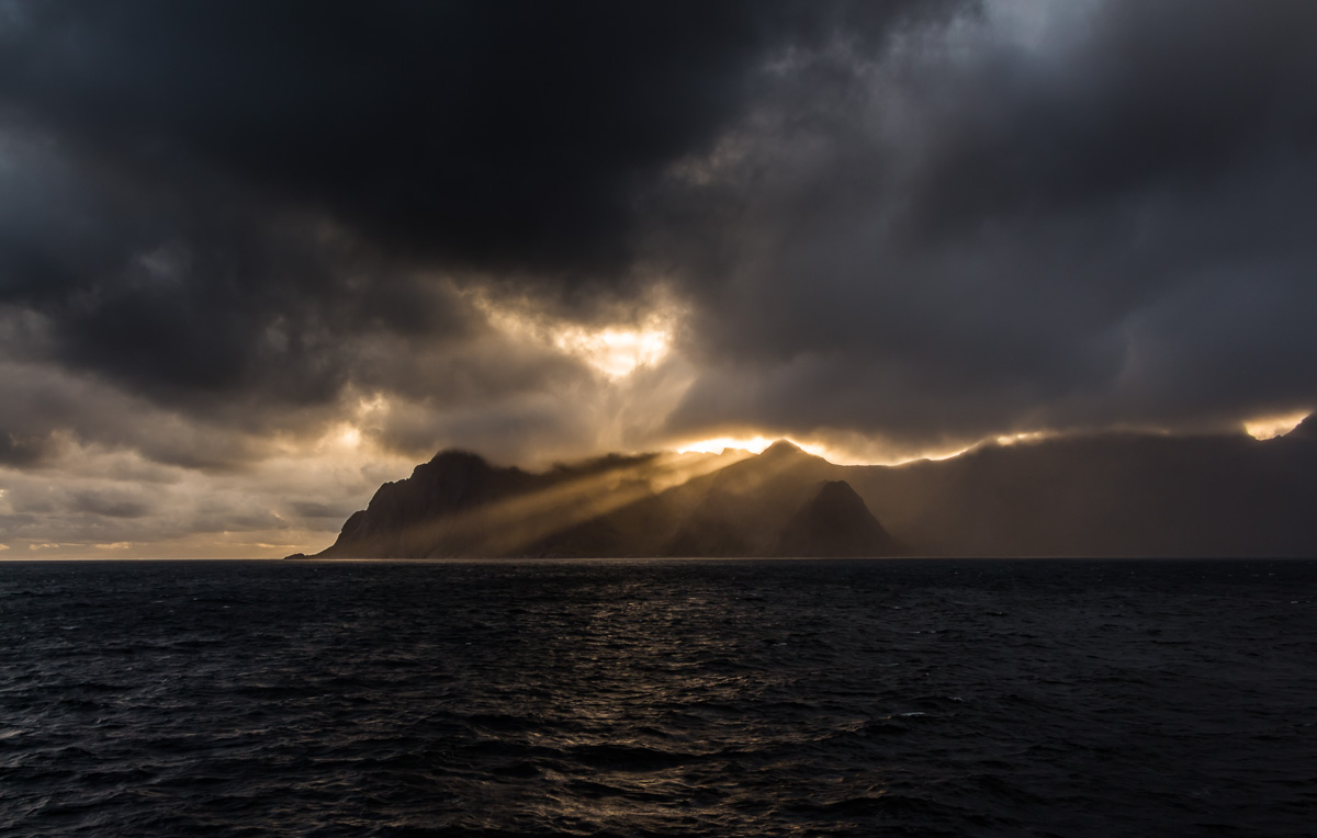 Норвегия. Закат солнца. Norway. Lofoten. Moskenes. Sunset